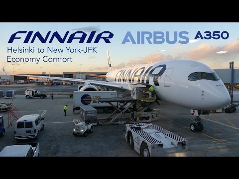Full Flight Report | FINNAIR Airbus A350 XWB Economy Comfort | Helsinki to New York-JFK
