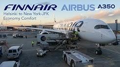 Full Flight Report | FINNAIR Airbus A350 XWB Economy Comfort | Helsinki to New York-JFK