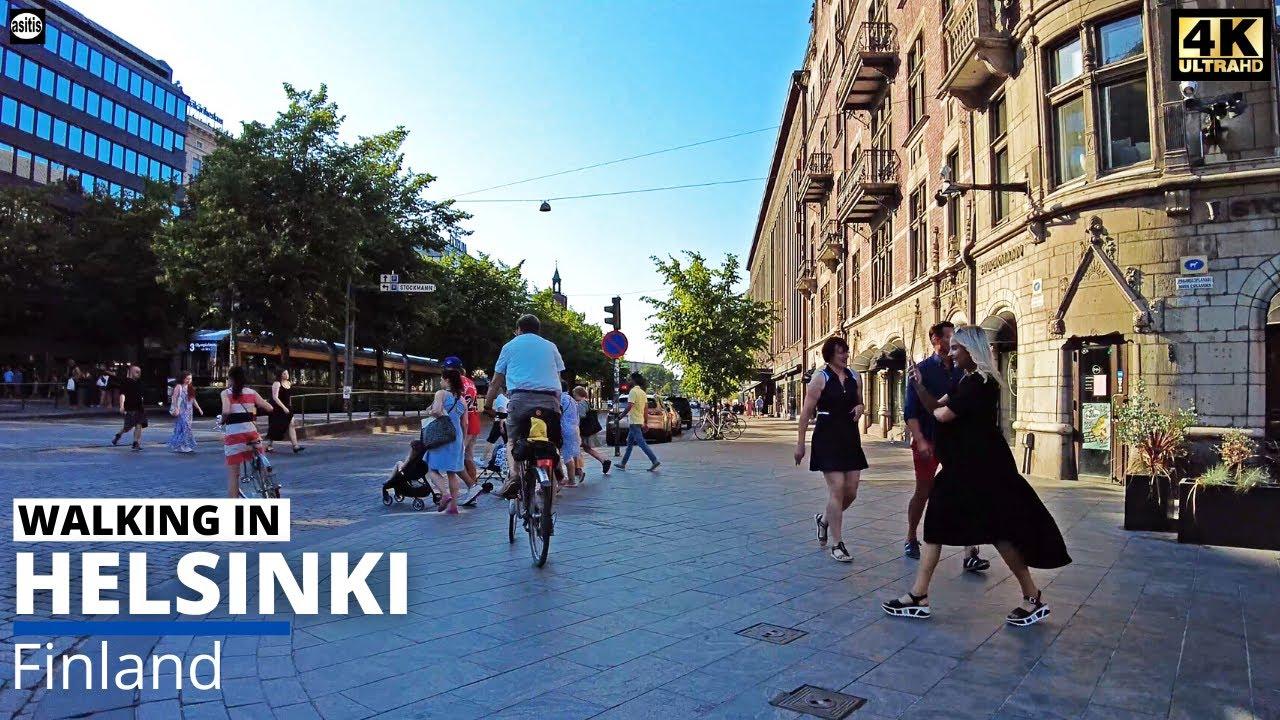Download Hot Summer Evening Walk in Helsinki City Center - Mannerheimintie (16 July 2021)