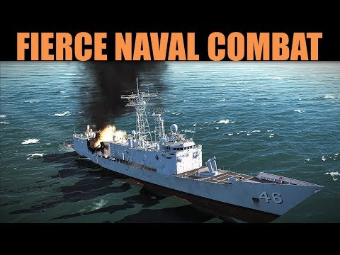 Coffee Campaign: DAY 8 Fierce Naval & Air Combat Mission | DCS WORLD