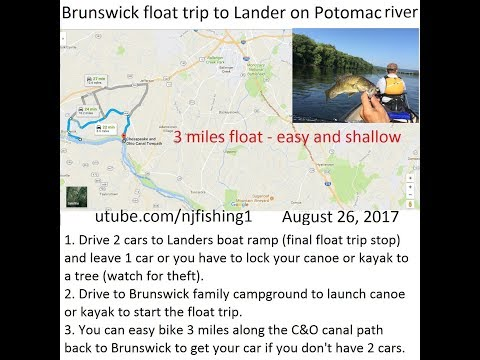 New float and fishing trip on the upper Potomac river (from Brunswick to Lander MD)