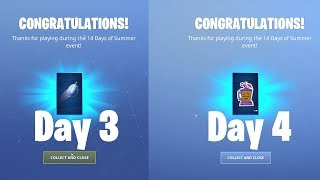 Fortnite 14 Days of Summer Rewards Roundup. Day 3 and Day 4