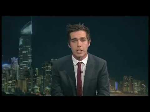 Tom Mann presenting for Griffith University News (GU News)
