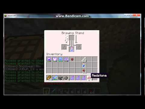 Minecraft - How to make Splash Potion of Poision - YouTube