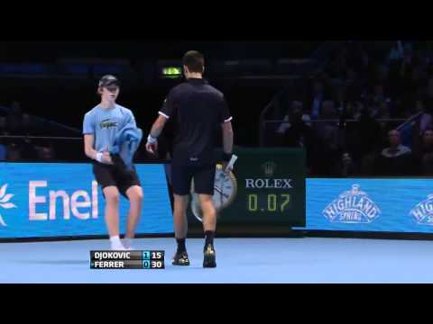 [HD] Ferrer vs Djokovic _AT LONDON 2011