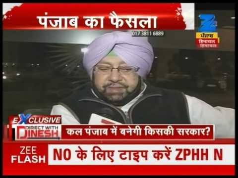 Exclusive talk with Capt Amrinder Singh over Punjab elections in Direct with Dinesh
