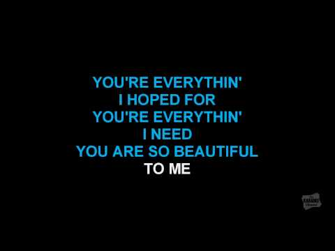 You Are So Beautiful in the style of Joe Cocker karaoke vide
