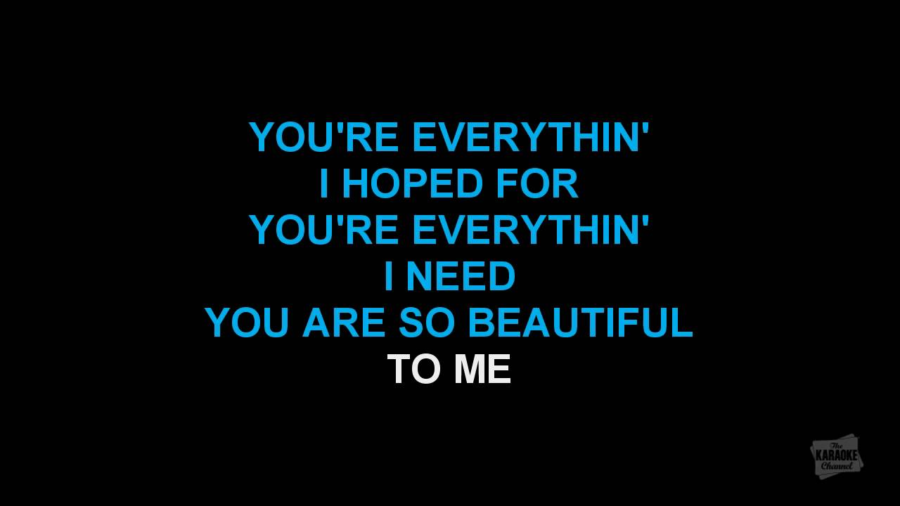 You Are So Beautiful In The Style Of Joe Cocker Karaoke Video With