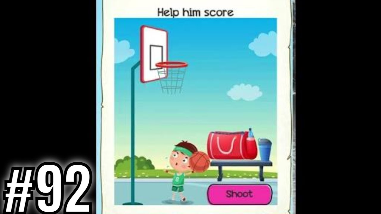 Download Braindom 2 Riddles Level 92 Help him score - Gameplay Solution Walkthrough