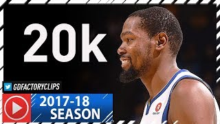 Kevin Durant Full HISTORICAL Highlights vs Clippers (2018.01.10) - 40 Pts, 20.000 Points!