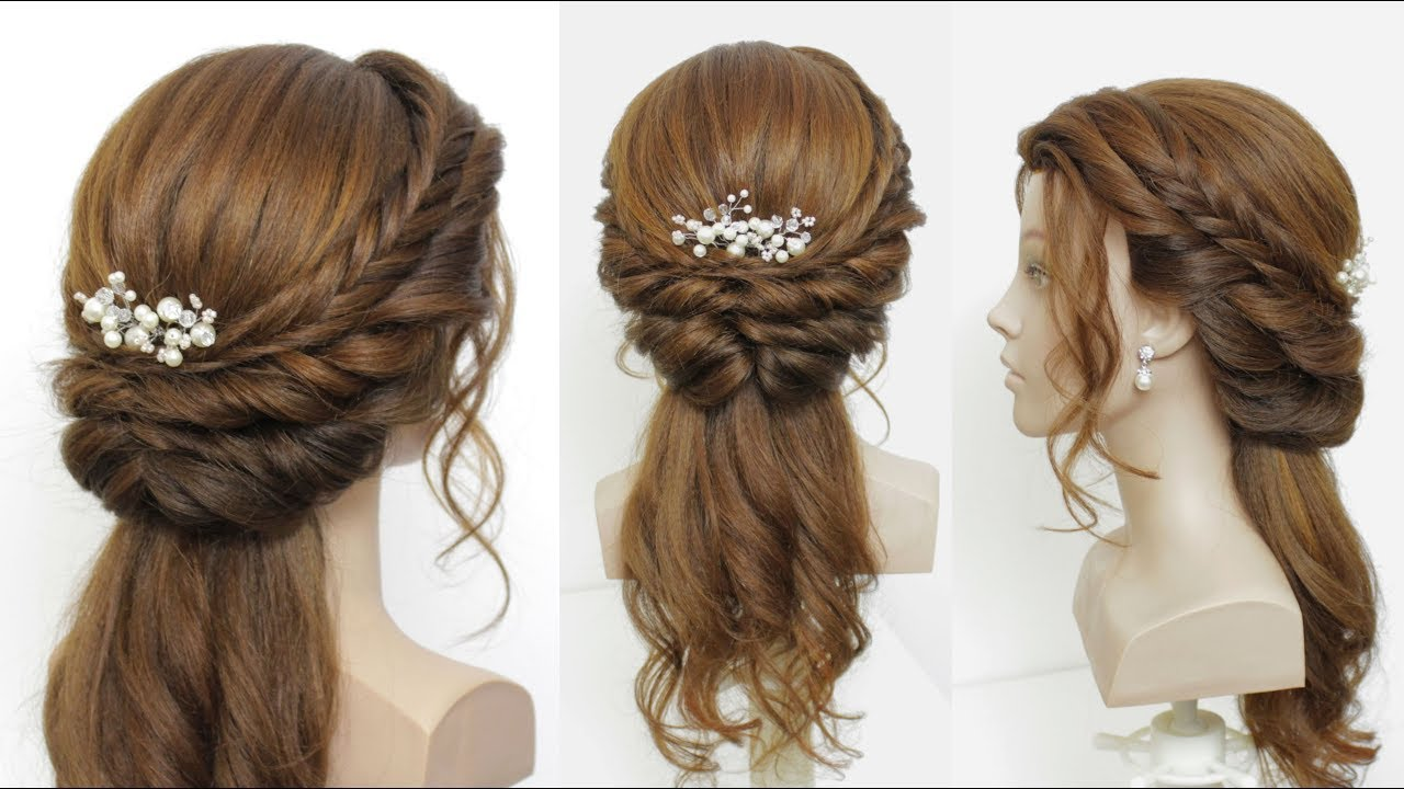 simple open hairstyle for girls. latest party and wedding hair tutorial