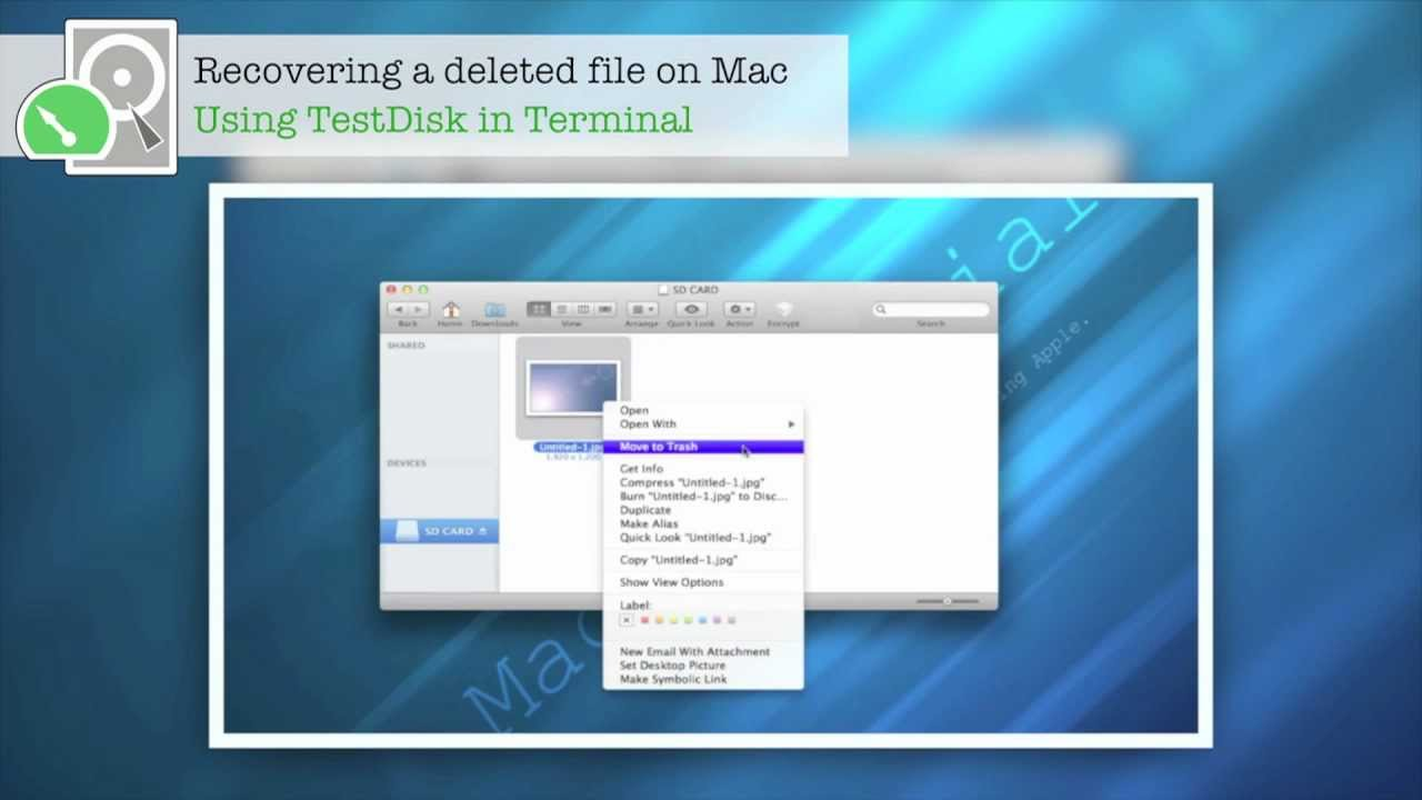 how to use testdisk mac