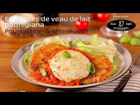 escalopes-de-veau-de-lait-parmigiana,-pancetta-et-sauce-aux-tomates-confites