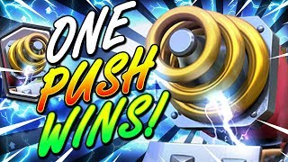 UNBELIEVABLE SPARKY RAGE DECK WINS IN ONE PUSH ONLY!! UNREAL!! - Clash Royale