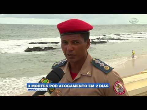 """Band Cidade - """"3 mortes por afogamento em 2 dias"""""""