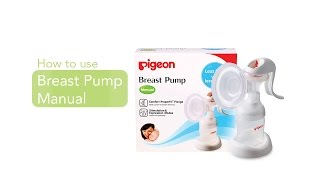 How to use Pigeon Breast Pump Manual