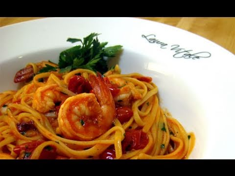 Linguine with Shrimp Al Diablo Recipe by Laura Vitale