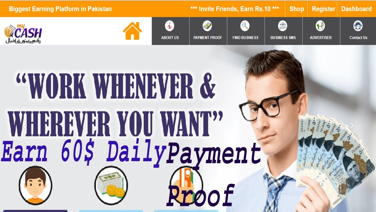 How to Make daily 60$ for Mycash Pakistan || Best Earning website Pakistan