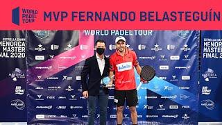 Fernando Belasteguín: MVP Estrella Damm Menorca Master Final 2020 | World Padel Tour