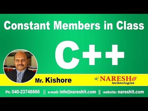 Constant Members in Class   C++ Tutorial   Mr. Kishore