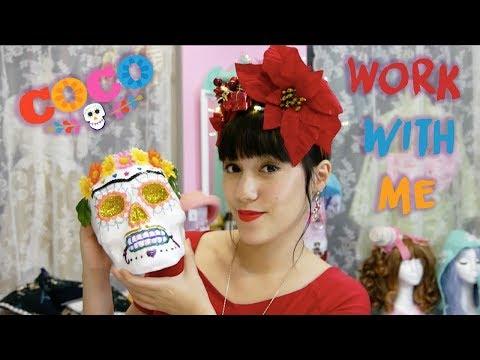 Work with me I Dia de los muertos Skull inspiriert von Coco