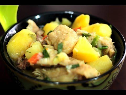 Тушеная картошка с грибами и мясом