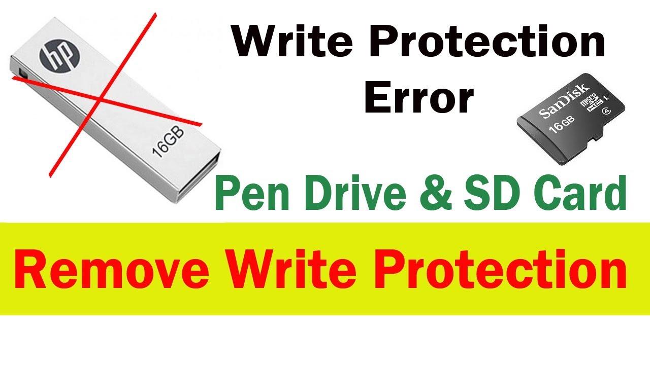 Write Protection error fix pen drive and micro sd card