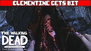 Clementine Gets Bit - THE WALKING DEAD SEASON 4 EPISODE 4