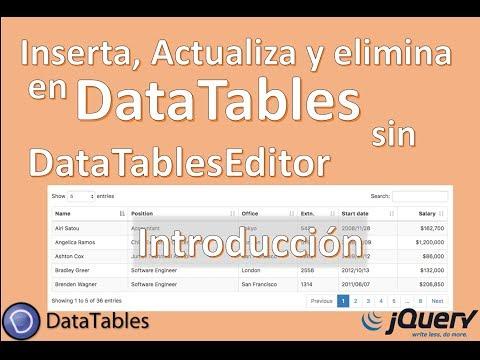 DataTables Editor Jquery, Ajax - Introduccion - Curso