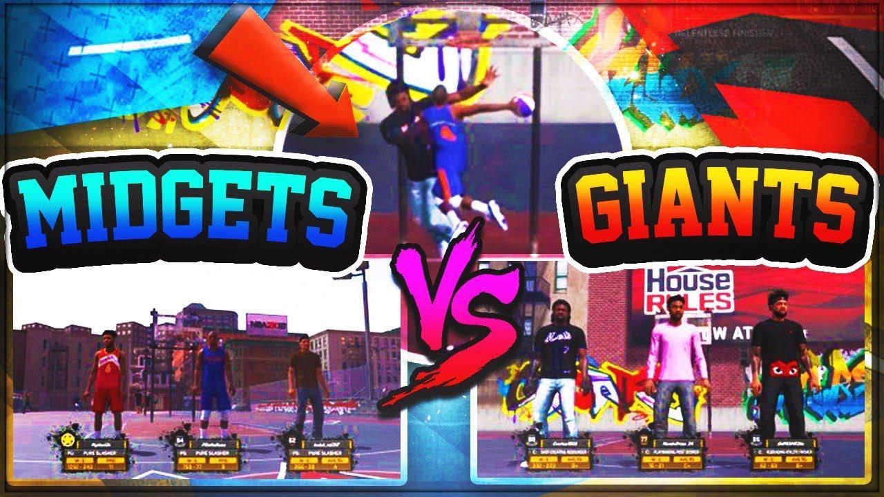 GIANTS vs Midgets *MUST SEE* NBA 2K17 - YouTube