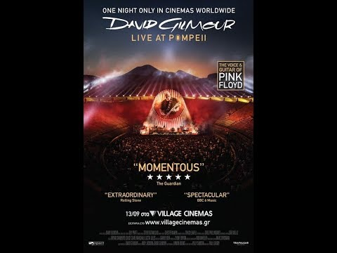 David Gilmour Live At Pompeii - 13/09 & 15/09 στα VILLAGE CINEMAS