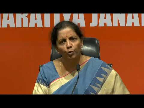 Press Conference by Smt. Nirmala Sitharaman at BJP Head Office, New Delhi