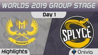 GAM vs SPY Highlights Worlds 2019 Main Event Group Stage GAM Esports vs Splyce by Onivia