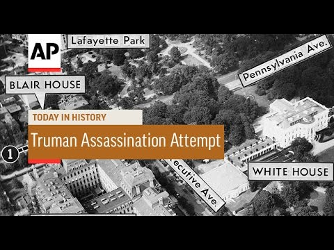 Truman Assassination Attempt - 1950 | Today in History | 1 Nov 16