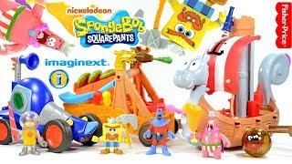 Imaginext SpongeBob SquarePants Viking Ship Chummy Patty Catapult plus Man Ray &amp Hot Rod