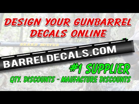 Installing Custom Gun Barrel Decals Stickers