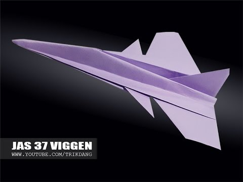 Best Paper Planes: How to make a paper airplane that Flies | JAS 37 Viggen