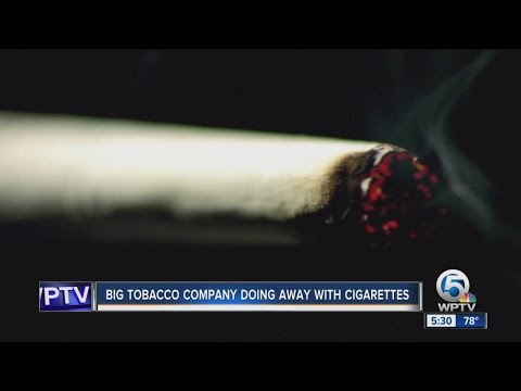 Big tobacco company doing away with cigarettes