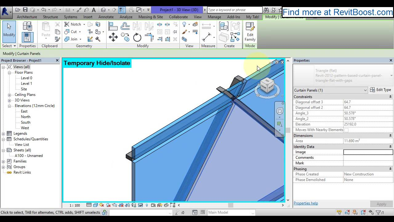 Revit Pattern Based Curtain Panel With Adjustable Gaps