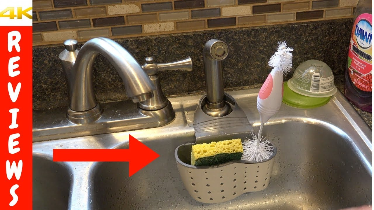 Kitchen sink organization ideas | Sponge holder review and unboxing