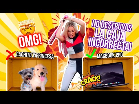 NO DESTRUYAS LA CAJA INCORRECTA! Adiós MacBook! 💻 iPhone XMAx 📱😢💔 | Katie Angel