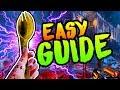 GOLDEN SPORK GUIDE - BLOOD OF THE DEAD EASTER EGG MELEE UPGRADE TUTORIAL (Black Ops 4 Zombies)