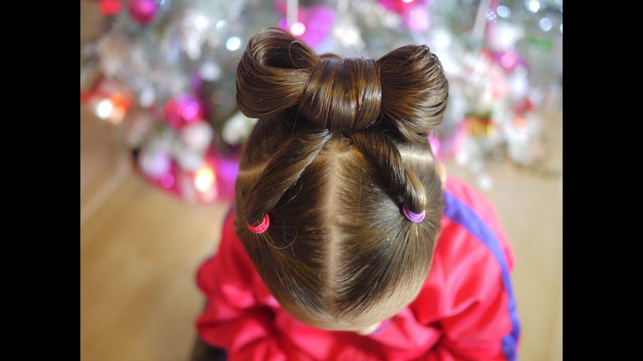 Peinado f cil para ni as a o nuevo easy hairstyle bow - Peinados de ninas ...