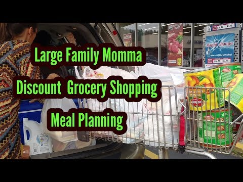 Large Family Discount Grocery SHOPPING and MEAL Planning for warmer months!