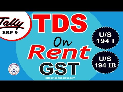 TDS on rent under GST in Tally ERP 9 Part-122| Learn Tally GST Accounting