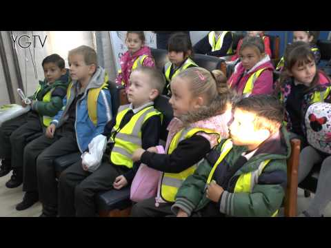YGTV Gibraltar News Video: Reception Kids Visit Defence Fire Services