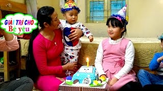 HUYỀN BUY BABY AND BIRTHDAY cake with his brother by entertainment be yeu