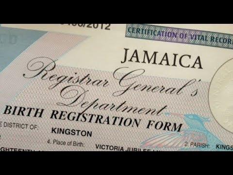 Birth Certificate Application Jamaica Youtube