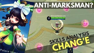 CHANG'E : NEW MAGE HERO SKILL AND ABILITY EXPLAINED | Mobile Legends