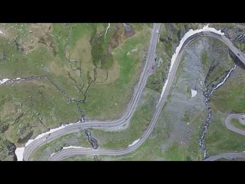 Transfagarasan road seen from above